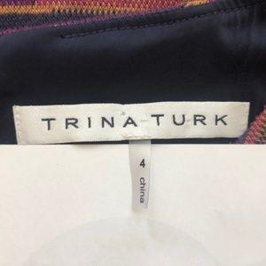 Trina Turk Dresses - Trina Turk Dress Size 4  Purple Orange Stripe